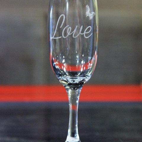 Гравированный свадебный бокал