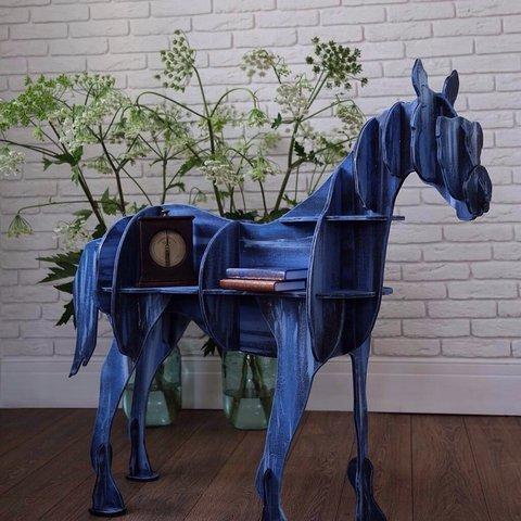 Лошадь - книжная полка